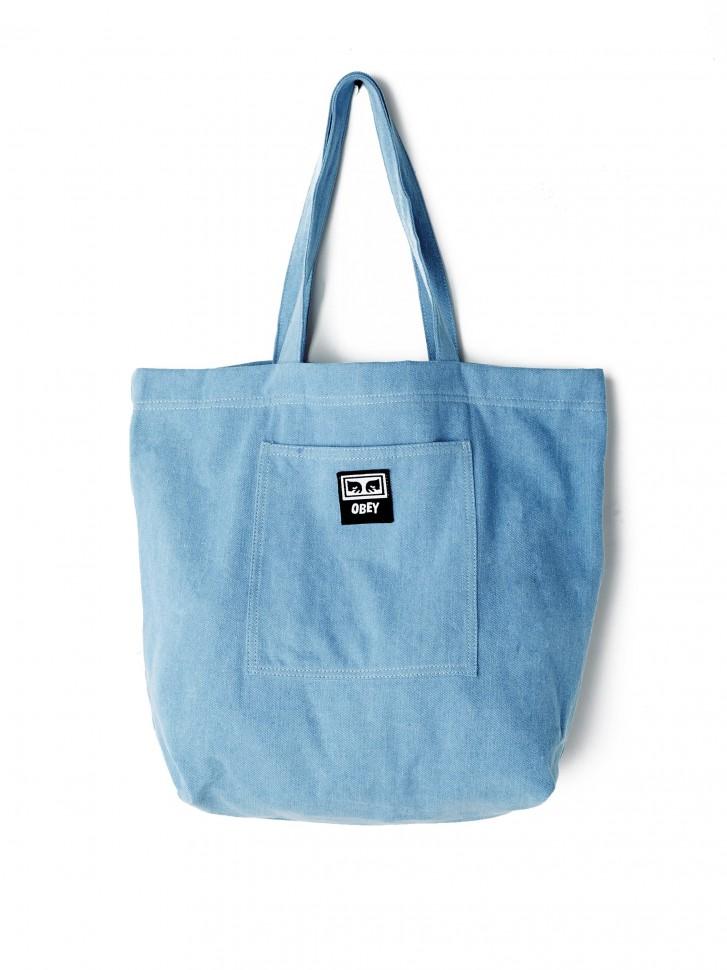 Купить со скидкой Сумка OBEY Wasted Tote Bag Denim