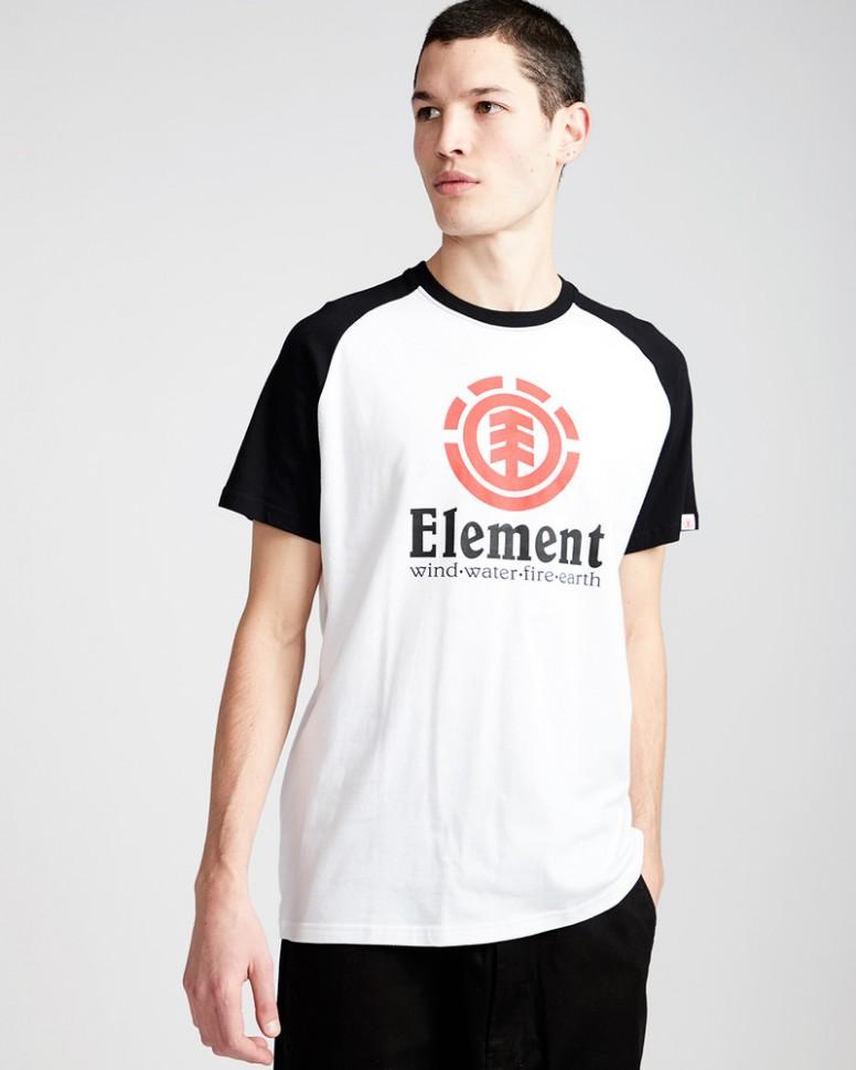 Футболка мужская ELEMENT Vertical Ss Raglan Optic White фото