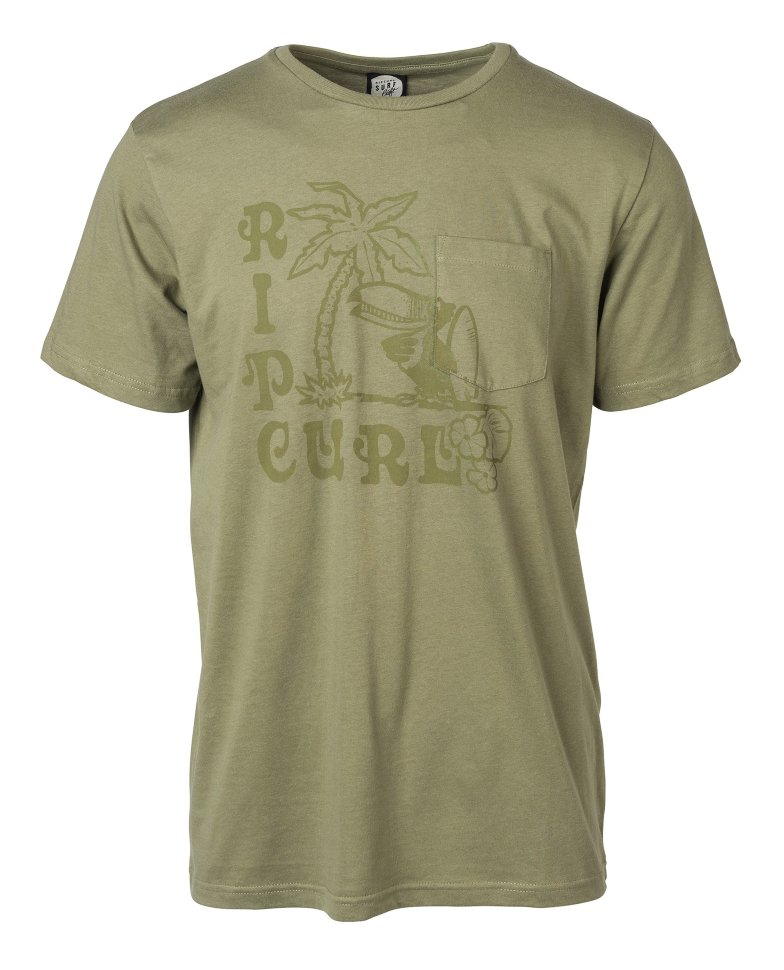 RIP CURL IGLOO, TOUCANOS POCKET TEE  фото