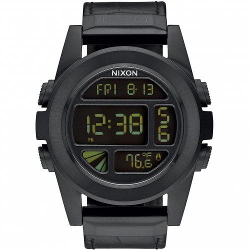 Часы NIXON Unit Ss Leather A/S Black Gator