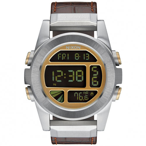 Часы NIXON Unit Ss Leather A/S Brown Gator
