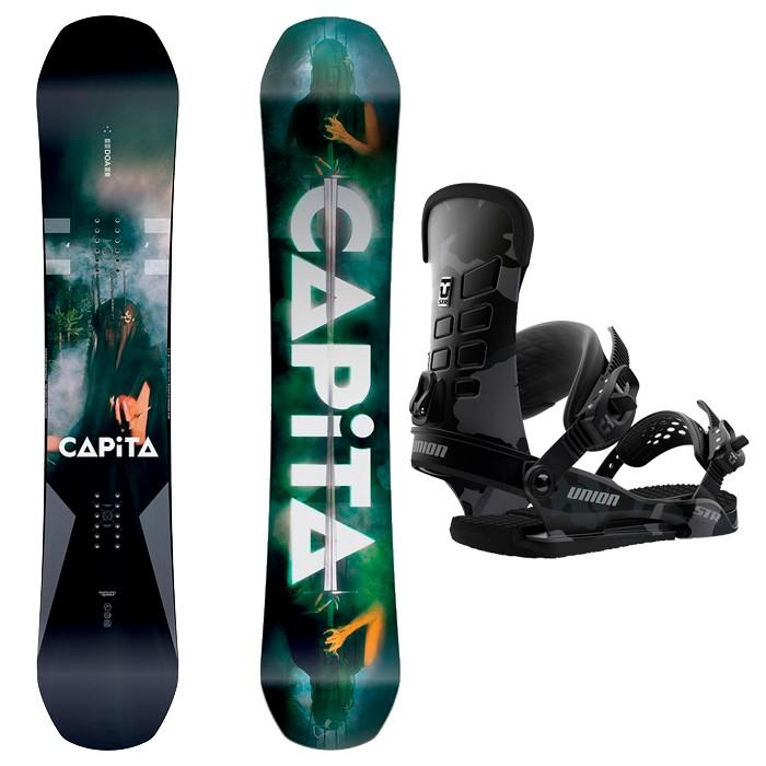 Купить со скидкой Комплект сноуборда женский CAPITA Defenders of Awesome + UNION STR Black Camo