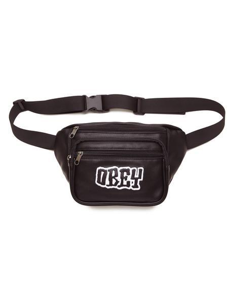 Сумка на пояс OBEY Better Days Pu Waist Bag Black фото