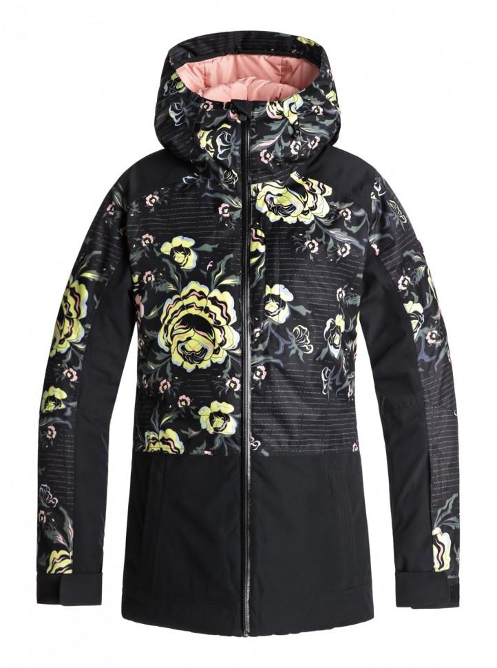 Куртка для сноуборда женская ROXY Tb Snowflake Jk J True Black_Torah'S Roses