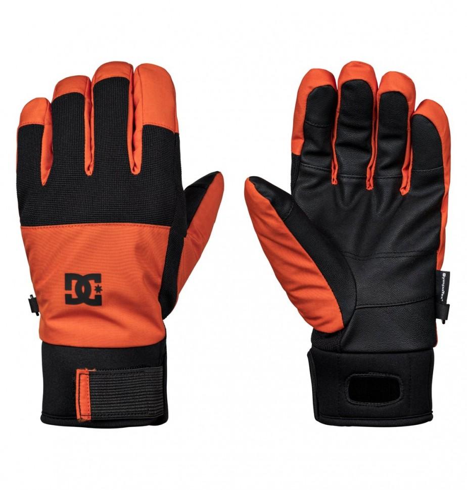 Купить со скидкой Перчатки сноубордические DC SHOES Industry Glove M Red Orange