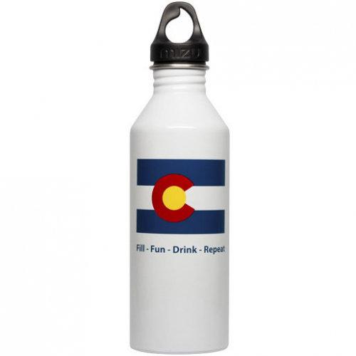 Бутылка для воды MIZU Mizu M8 A/S Colorado Flag Glossy White фото