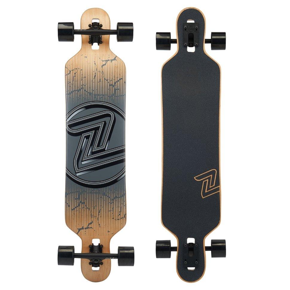 Комплект лонгборд Z-FLEX Drop Thru Longboard Cracked Black фото
