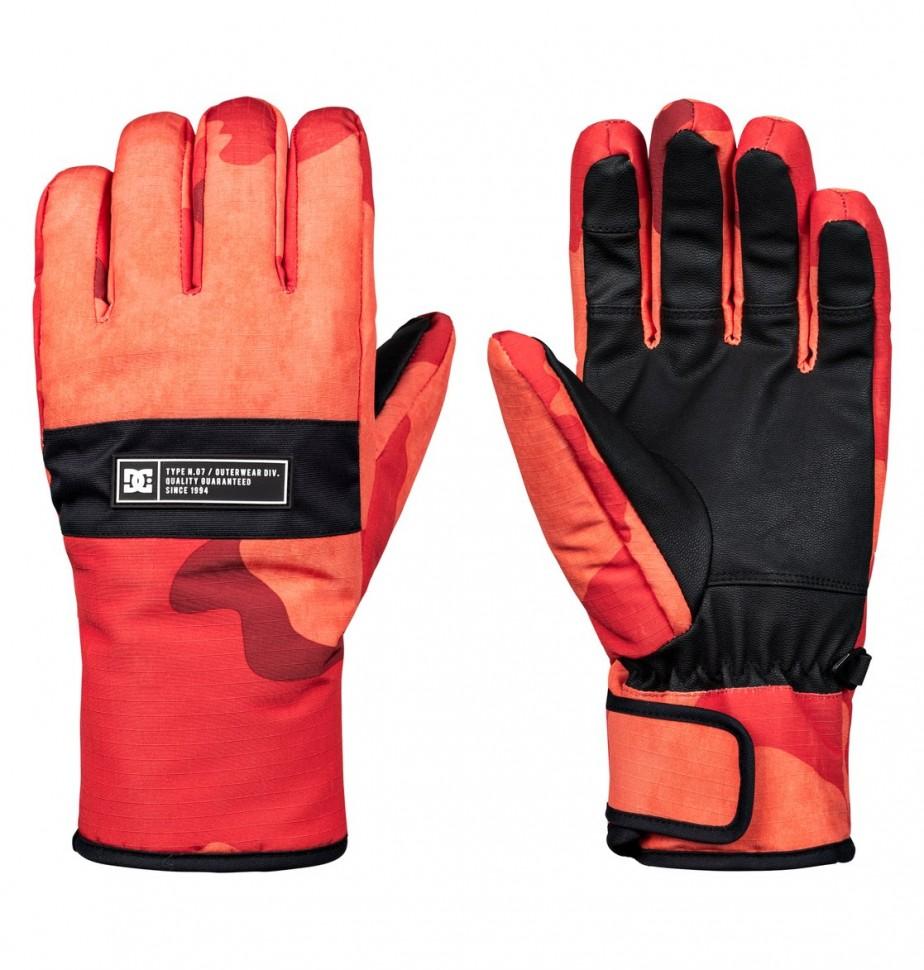 Купить со скидкой Перчатки сноубордические DC SHOES Franchise Glove M Red Orange Dcu Camo Men