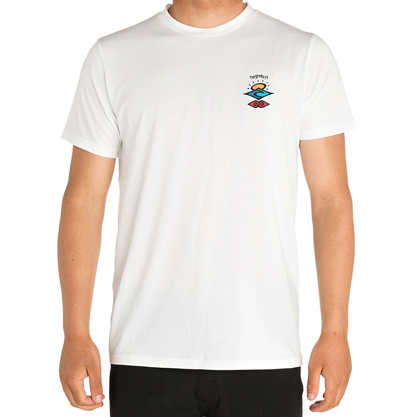 Лайкра RIP CURL Search Logo S/Sl Uv Tee White