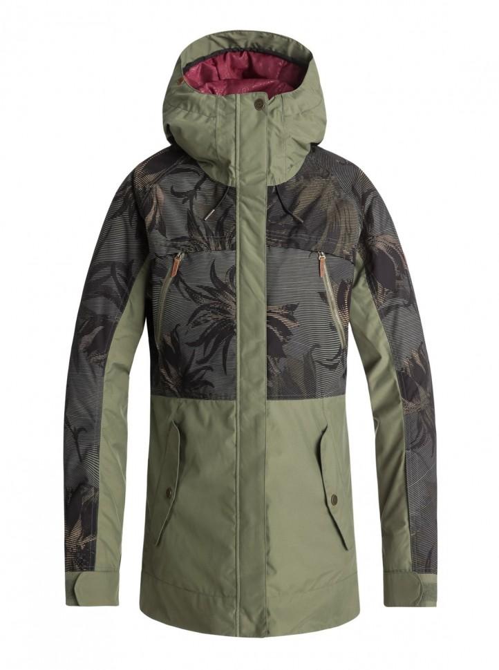 Куртка для сноуборда женская ROXY Tribe Jk J Four Leaf Clover_Swell Flowers
