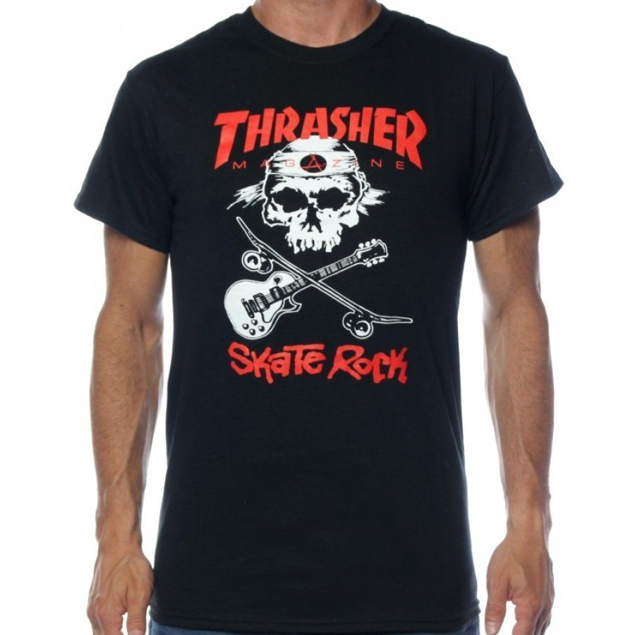 Футболка Thrasher Skate Rock Black  фото