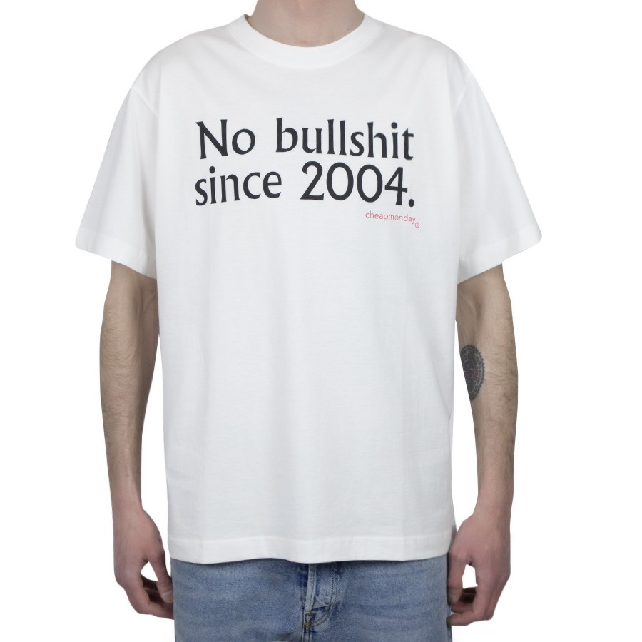 Футболка CHEAP MONDAY Uni Tee No Bs Since White  фото