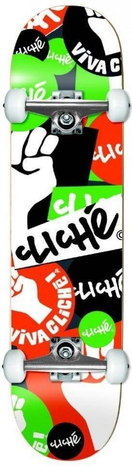 Скейтборд в сборе CLICHE Patch Youth Fp Complete Mid Orange/Green 7.375 дюймов 2020 фото