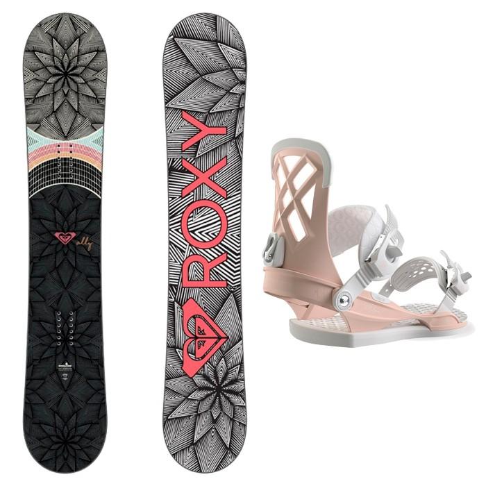 9dd2a4af4a37 Купить со скидкой Комплект сноуборда женский ROXY Ally Banana + UNION Milan  Pink