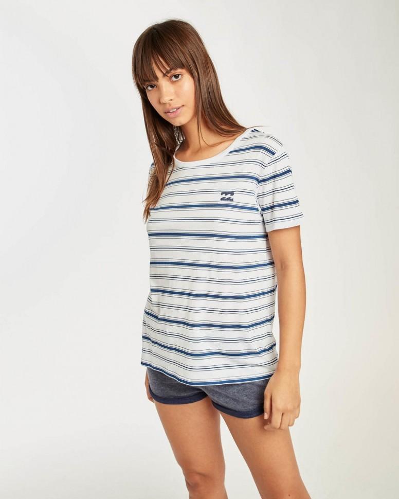 Футболка женская BILLABONG Beach Day Short Slee Blue Stripes