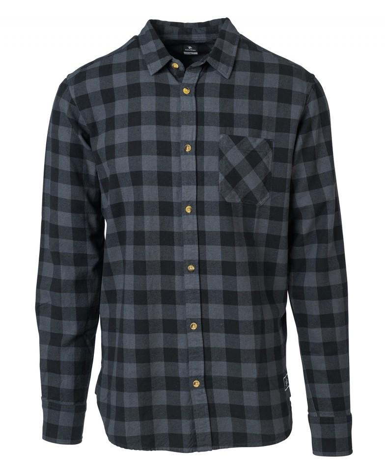 Купить со скидкой Рубашка RIP CURL Check It Shirt Black