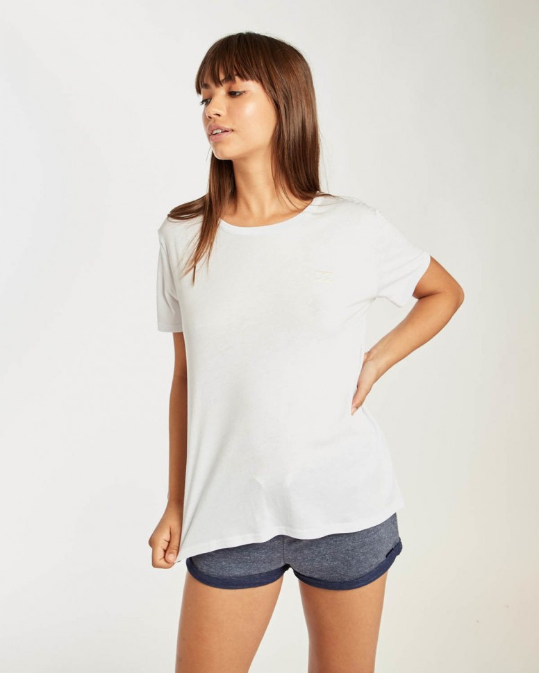 Футболка женская BILLABONG Beach Day Short Slee White