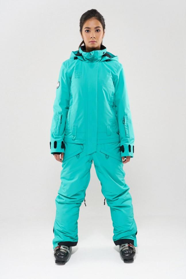 Комбинезон для сноуборда женский COOL ZONE Twin One Color Мятный