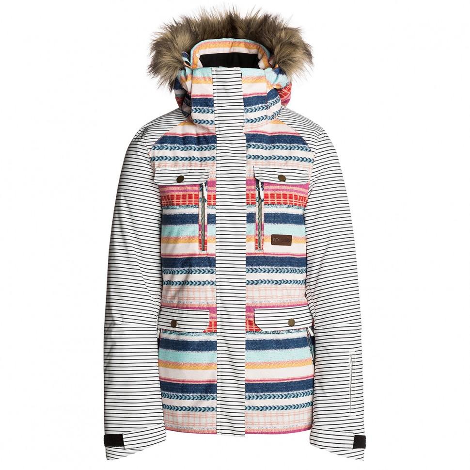 Купить со скидкой Куртка для сноуборда женская RIP CURL Chic Fancsy PTD Jacket Optical White