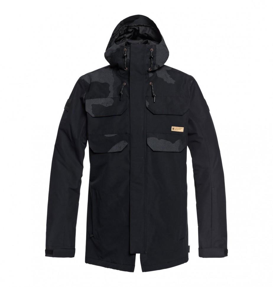 Фото #1: Куртка для сноуборда мужская DC SHOES Haven Jkt M Black Dcu Reflective Camo Men