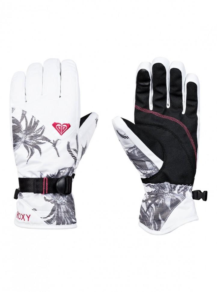 Перчатки ROXY Rx Jetty Gloves J Bright White_Swell Flowers фото