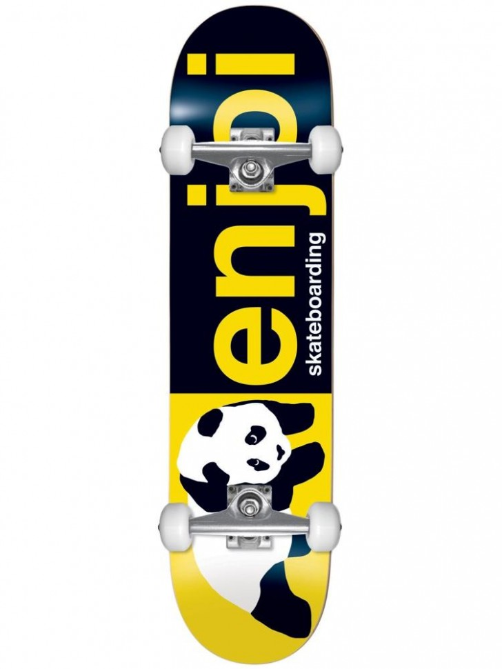 Скейтборд комплект ENJOI Half And Half Fp Complete Black/Yellow 8.0 дюйм 2020 фото
