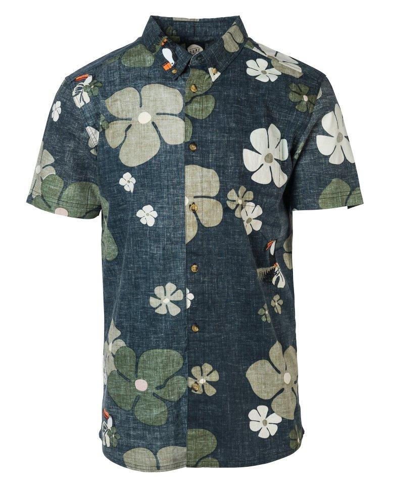 Рубашка к/рукав RIP CURL Tropicool Shirt Black