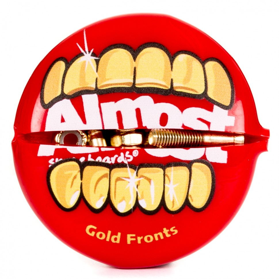 Винты для скейтборда ALMOST Gold Nuts & Bolts In Your Mouth 2 Allen 1