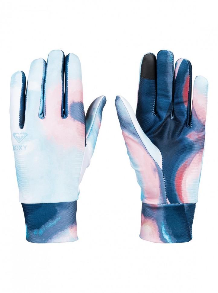 Перчатки для сноуборда женские ROXY Liner Gloves J Coral Cloud Dusk Swirl фото