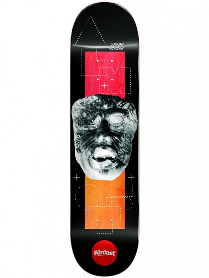 Дека для скейтборда ALMOST Daewon Stone Head Invert Impact Light 8