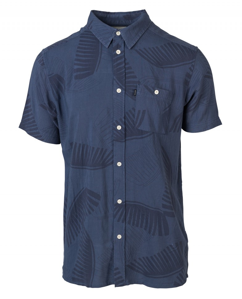 Рубашка к/рукав RIP CURL On Board Shirt Blue Indigo