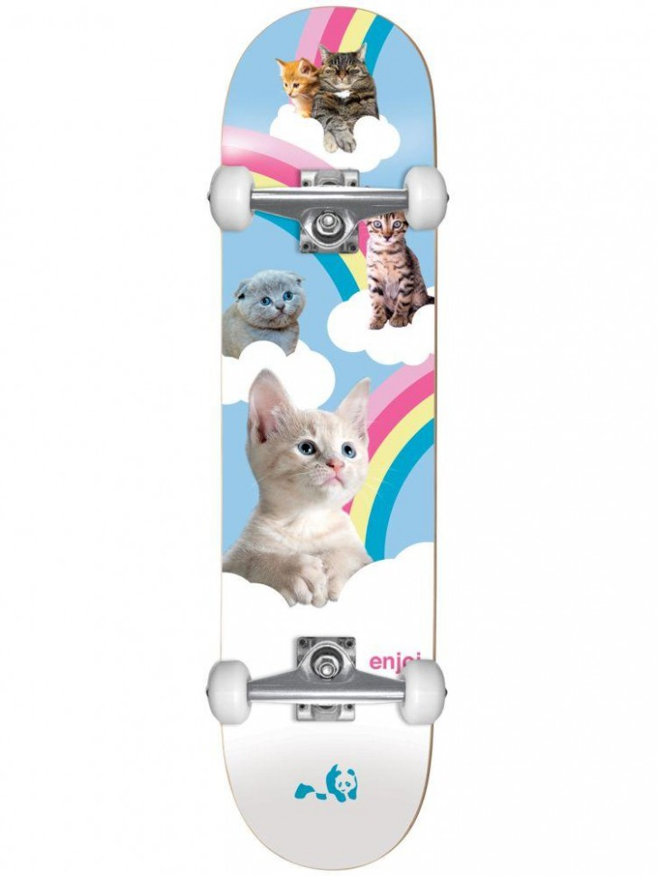 Скейтборд комплект ENJOI Kitten Slumber Fp Complete 7.5
