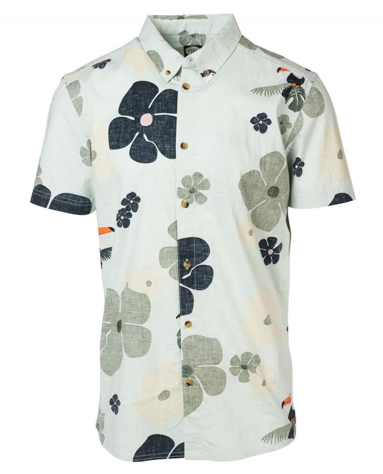 Рубашка к/рукав RIP CURL Tropicool Shirt Light Gray