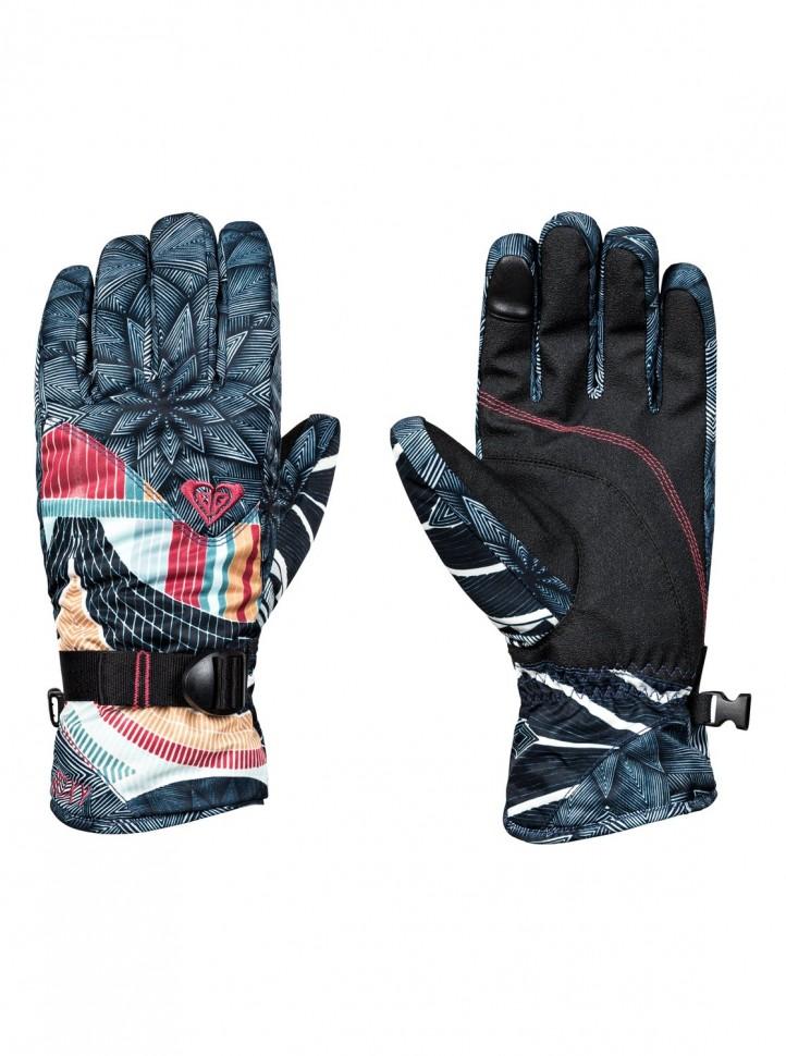 Перчатки ROXY Jetty Se Gloves J True Black_Pop Snow Stars фото
