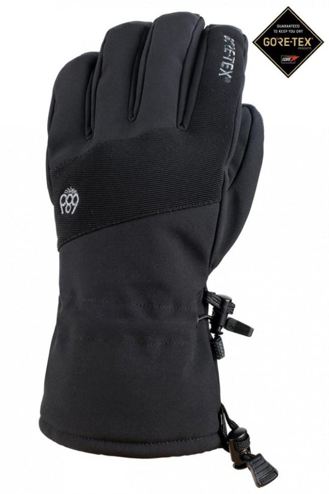 Купить со скидкой Перчатки для сноуборда мужские 686 Mns Gore-Tex Linear Glove Black
