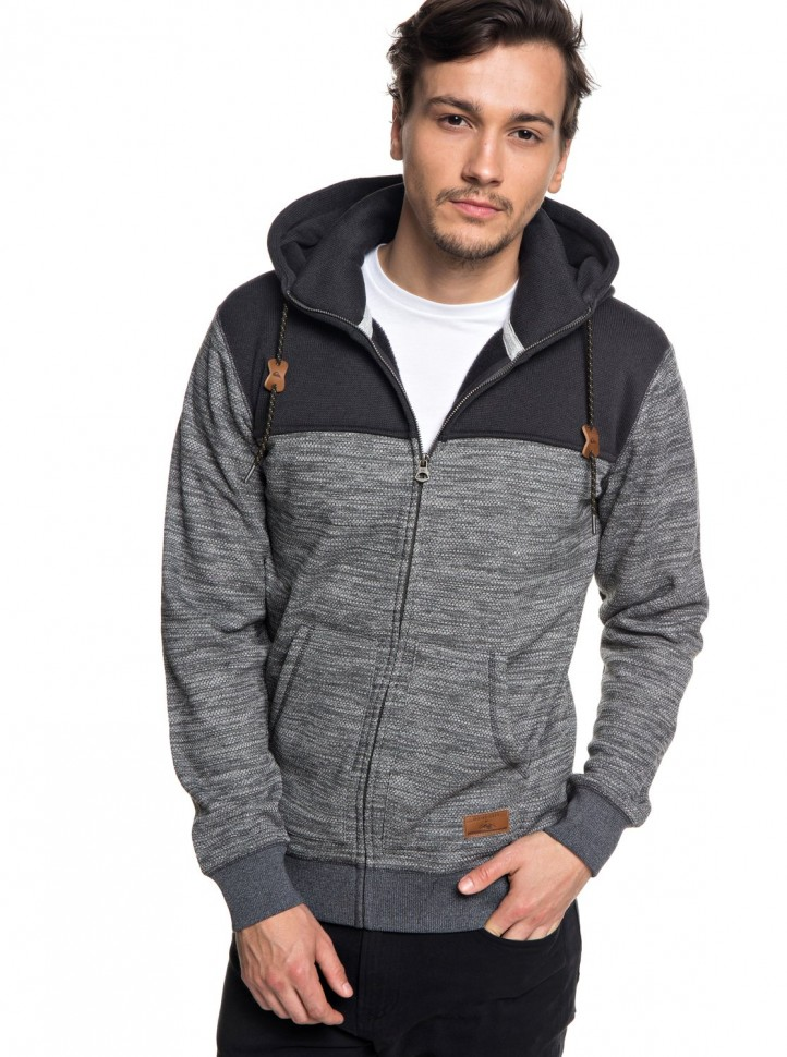 Кардиган QUIKSILVER Kellerblockzip M Dark Grey Heather