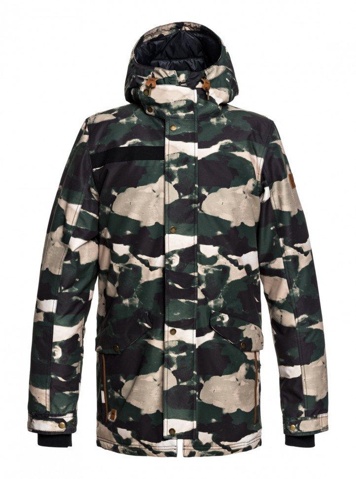 Куртка QUIKSILVER Cordova Parka J M Grape Leaf_Resin Camo фото