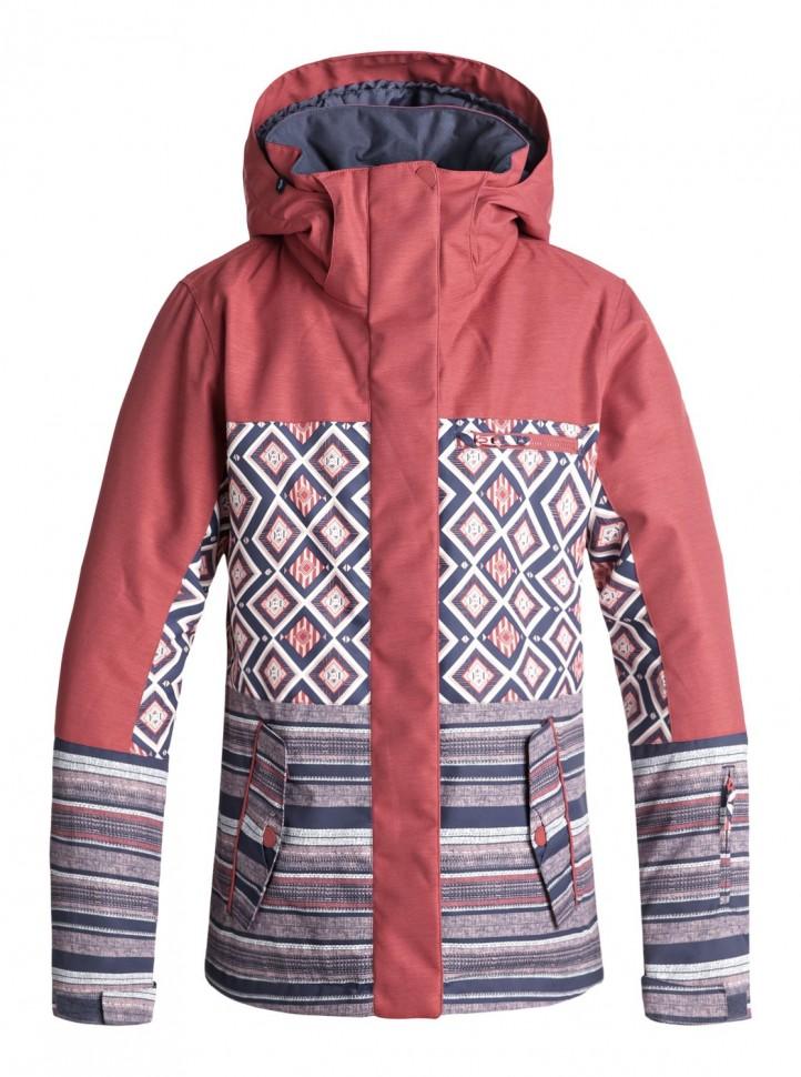 Купить Куртка Для Сноуборда Женская Roxy Rx Jetty Block J Dusty Cedar_Edit Song Geo