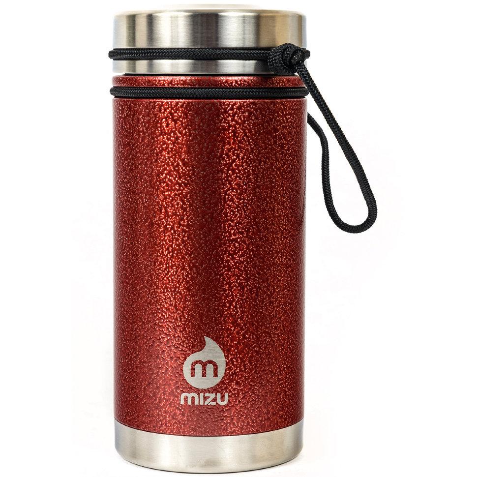 Термобутылка для воды MIZU Mizu V5 A/S Red Hammer Paint W V Lid фото
