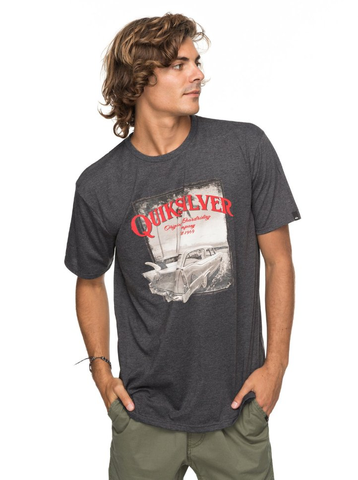 Футболка мужская QUIKSILVER Shdplaytough M Dark Grey Heather