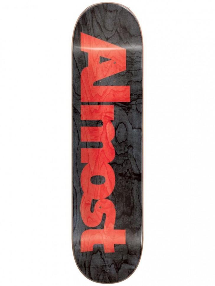 Дека для скейтборда ALMOST Ultimate Logo R7 Black 8.5