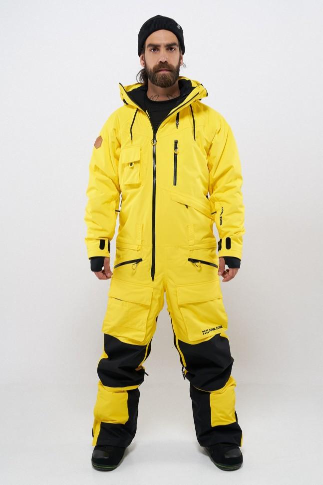Купить со скидкой Комбинезон для сноуборда мужской COOL ZONE Snowmobile Желтый