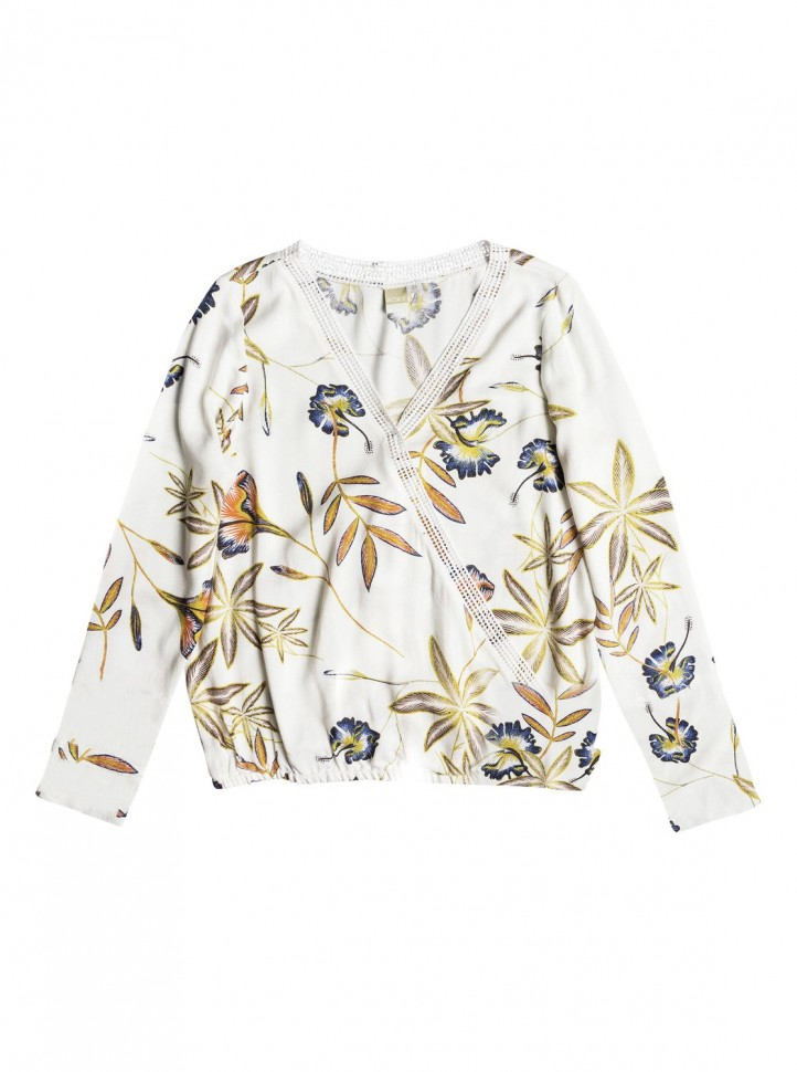 Блузка ROXY Runaway Success J Marshmallow Bird Flower фото