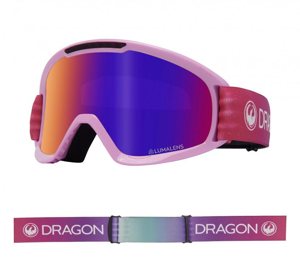 Маска горнолыжная DRAGON Dx2 Candy/Ll Purple Ion + Ll Amber фото
