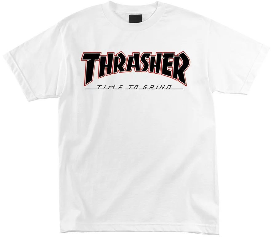Футболка мужская Independent x Thrasher Time To Grind White  фото