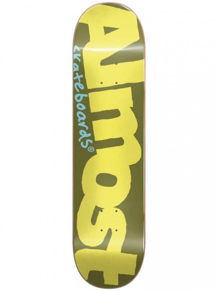 Дека для скейтборда ALMOST Color Logo HYB Red 8.125