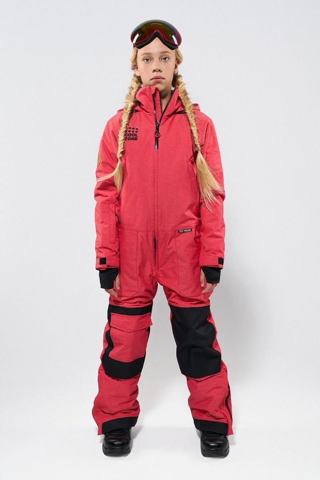 Купить со скидкой Комбинезон для сноуборда подростковый COOL ZONE Teens Ice Красный Джинс