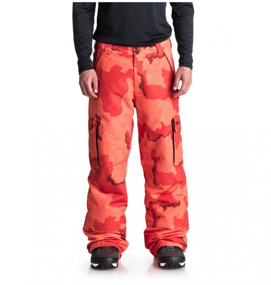 Штаны для сноуборда мужские DC SHOES Banshee Pnt M Red Orange Dcu Camo Men