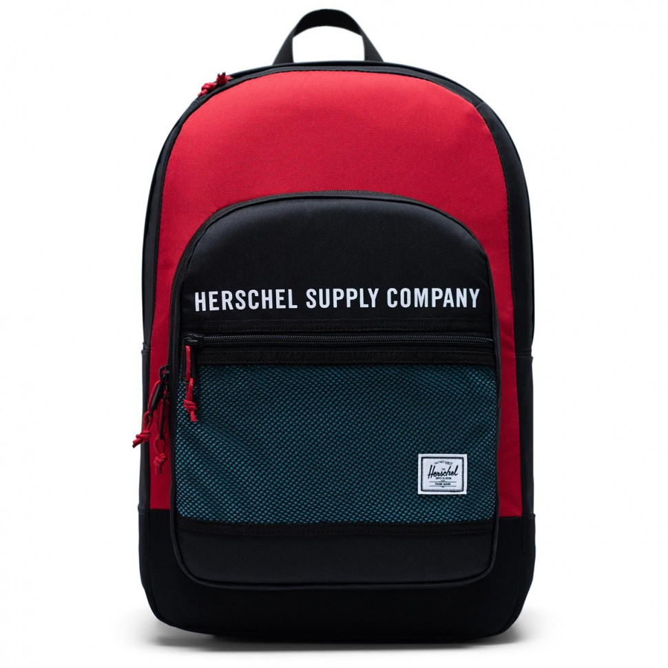 Рюкзак HERSCHEL Kaine Black/Red/Bachelor Button 30L  фото