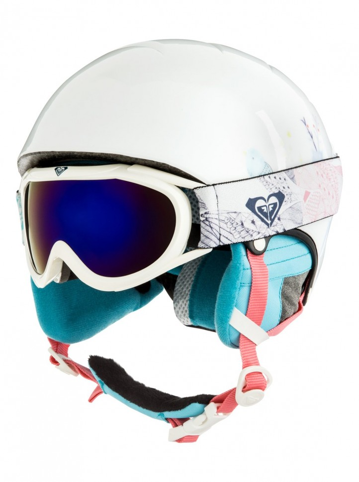 Шлем д/горных лыж и сноуборда ROXY Misty Girl Pck G Bright White_Animals Party